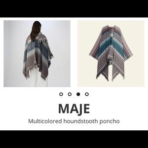 Maje wool blend poncho